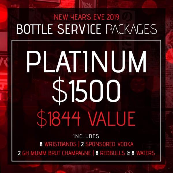Platinum Bottle Service Package, New Year's Eve 2019, Sake Rok Las Vegas