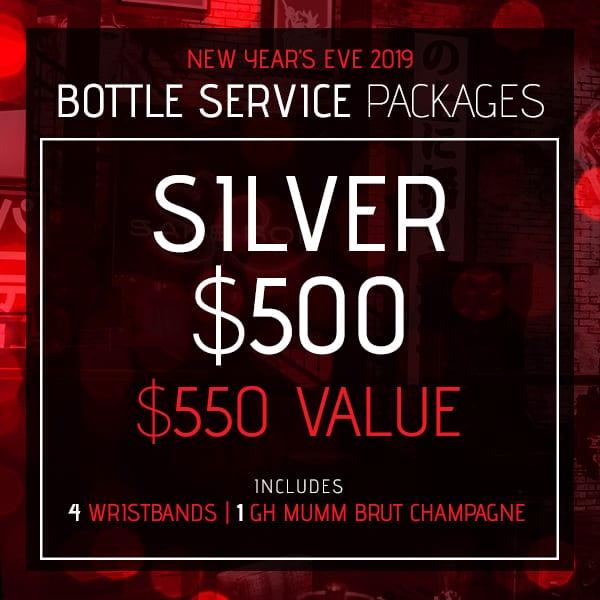 Silver Bottle Service Package, New Year's Eve 2019, Sake Rok Las Vegas